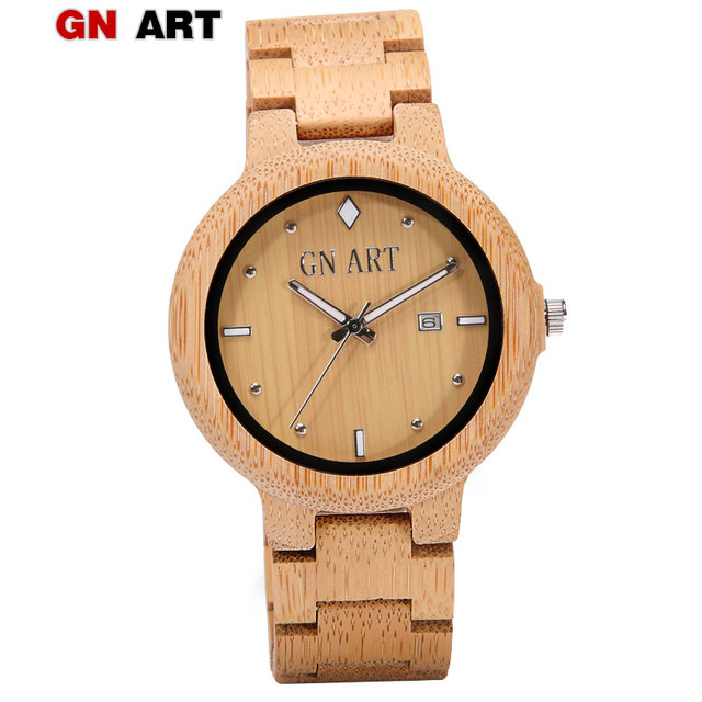 GNART reloj mujer wood watch women wrist watch wood watches ladies watch with ca