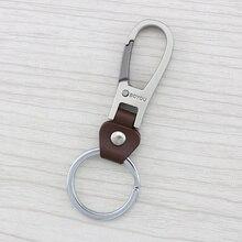 High end creative leather Men s waist Keychain font b Key b font Chains Keying font