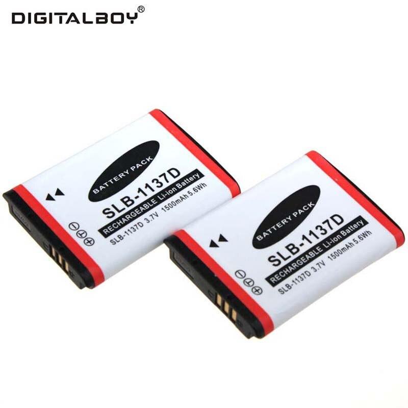 цена на Digital Boy 2pcs SLB-1137D SLB 1137D SLB1137D Battery For Samsung I85 NV11 NV103 NV30 NV40 NV106 I80 L74 I100 NV100
