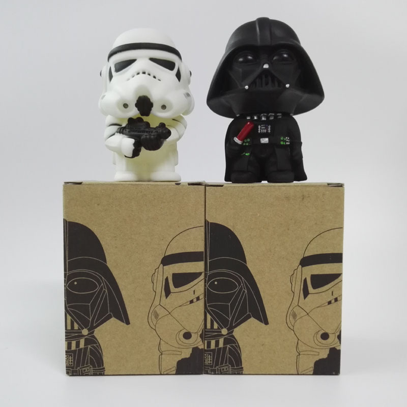 Star Wars 2pcs/set action figure toys PVC Black Knight Vinyl doll for children Squadron Puppets with box birthday gifts