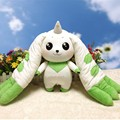 Free shipping Digimon Adventure Terriermon Cosplay Long Ears Plush Doll Toy gift 45cm for collection