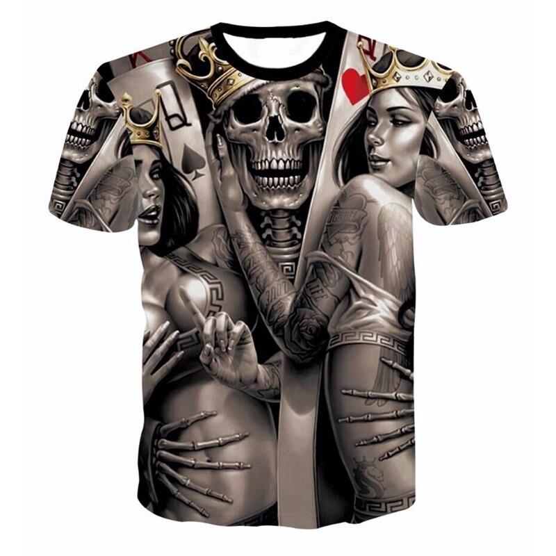 ONSEME Unisex-Erwachsene Hipster 3D T-shirt Tees Lustige Adler/Lions/Schädel/Boss Hund/Wolf/könig Königin Drucke TShirts Hip Hop Tops