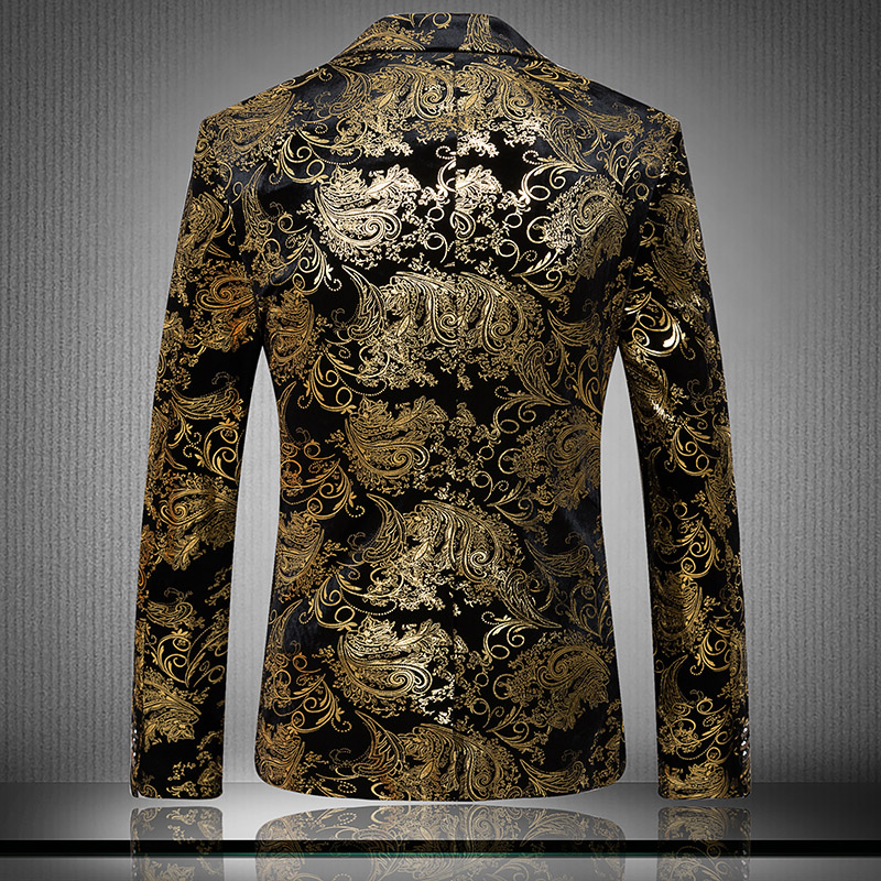 Luxury Brand Designer Imported Velvet Suit Gold Blazer 2017 Suit Gentleman  Business Slim Suit Of Silk and wool Plus Size M 3XL-in Blazers from Men s  ... 4c86a543e2b1