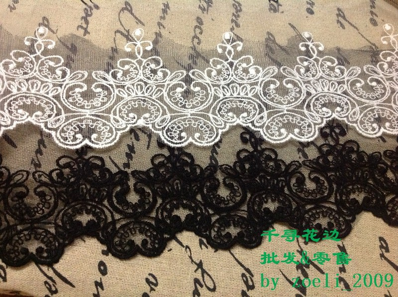 5 ярдов/серия ткань кружево черный, белый цвет красивые отправляет кружево отеле DIY ремесло материалы костюмы товар аксессуары кружево вышивка rs80