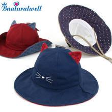 853d714c8a0 Bnaturalwell Bucket Hats for Kids Cotton Sun Hat Children Beach Hat Boys  Girls Summer Hat Cartoon