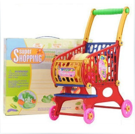 Child shopping cart trolley fruit 123 baby toy 61 gift