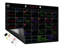 Free 8 Pen Magnetic Whiteboard Dry Erase Calendar Board Monthly Refrigerator Calendar Fridge Magnetic Whiteboard Chalkboard|Whiteboard| |  -