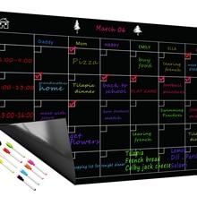 Free 8 Pen Magnetic Whiteboard Dry Erase Calendar Board Monthly Refrigerator Calendar Fridge Magnetic Whiteboard Chalkboard
