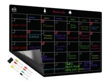 Freies 8 Pen Magnetic Whiteboard Trockenen Löschen Kalender Bord Monatliche Kühlschrank Kalender Kühlschrank Magnetische Whiteboard Tafel