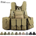 CS Tactical Hunting Vest Military Army vest 600D Oxford Molle Waistcoat Combat Assault Plate Carrier Vest CS Game Accessory