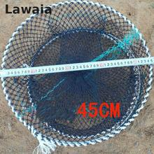 Lawaia Crab Cage Rubber Fly Fishing Net Fishing Folding Cast Net Fishing Lure Eel Net Crab Trap Fishing Network