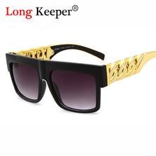 Moda steampunk gafas de sol de la vendimia diseñador de la marca de los hombres gafas de sol hombre gafas de sol hombre gafas grandes gafas de marco de cristal de oro