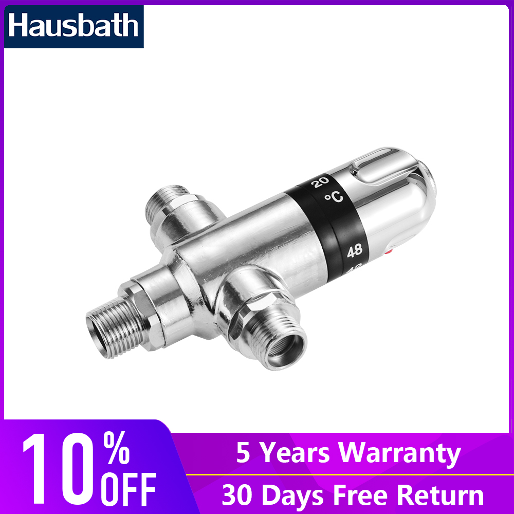 Bathroom Thermostatic Mixing Valve Hot And Cold Water Temperature Control Water Mixer Solar Cooper Valve Core hot cold thermostatic mixing valve 22mm copper bathroom faucet shower control mixer water heater
