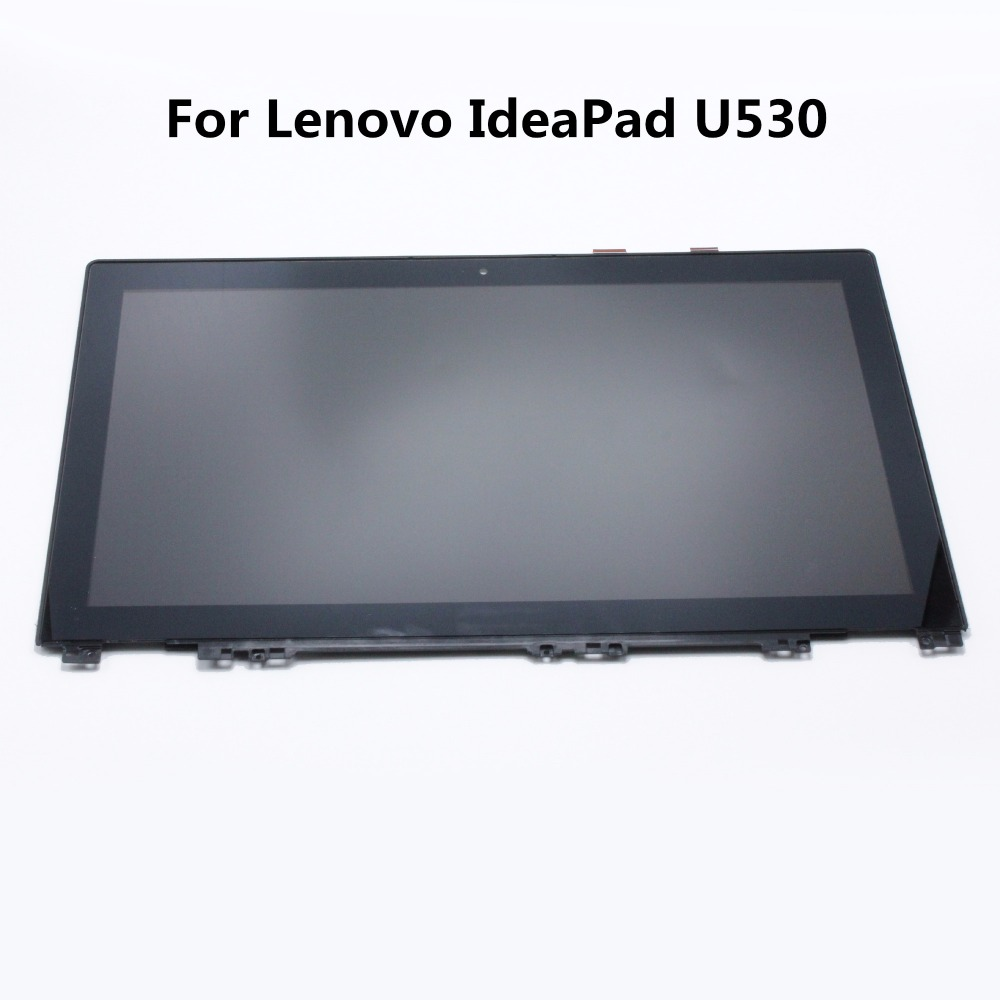15.6 Laptop LCD Assembly with Frame For Lenovo IdeaPad U530 Display Touch Screen Glass Digitizer N156HGE -EA1 LP156WHU-TPB1 lefan 2018 sport suits 3pcs men elastic running fitness sets male training sportswear clothes set gym tracksuits tight leggings