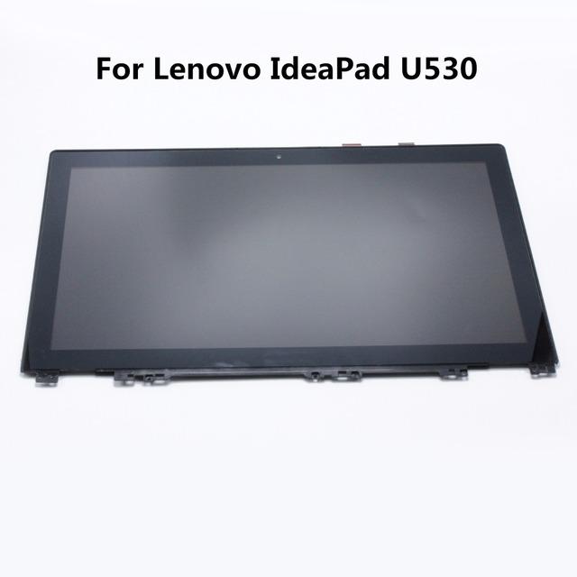 """15.6 """"laptop asamblea lcd con el marco para lenovo ideapad u530 pantalla táctil de cristal digitalizador n156hge-ea1 lp156whu-tpb1"""