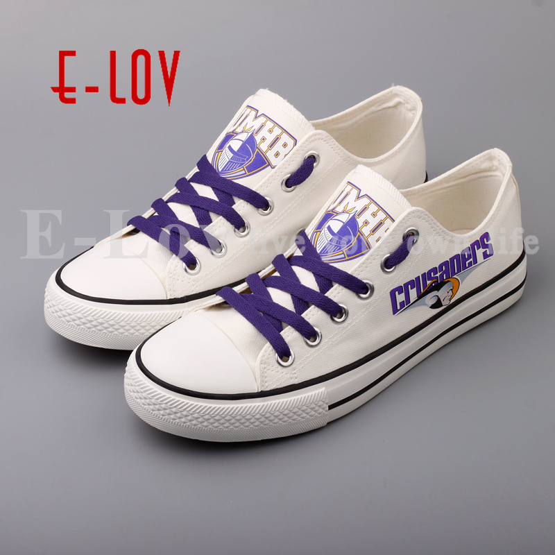 E-LOV 2017 Team To Customize UMHB Canvas Shoes University of Mary Hardin Baylor Print White Flat Shoes Drop Shipping e lov women casual walking shoes graffiti aries horoscope canvas shoe low top flat oxford shoes for couples lovers