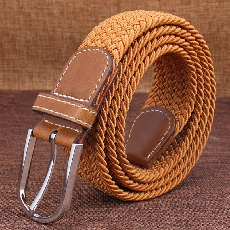 Elastic Belt Knitted Canvas Belts Decoration Girdle Female Pin Buckle Strap Women And Man Adult Casual High Quality Fashion 2019