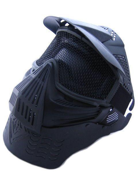 Goggles full face masks neck mesh  protective outdoors CS war game  airsoft paintball field sport equipment Tactical  Masks chief sw2104 skull style full face mask for war game cs black