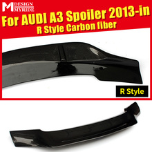 Fits For Audi A3 A3Q Rear Spoiler Tail AER-Style Coupe Real Carbon Fiber Rear Spoiler Rear Trunk Wings Tail car styling 2013-in a3 rear trunk spoiler wing lip small aev style carbon fiber for a3 a3q auto air rear trunk spoiler tail wing car styling 2013 in