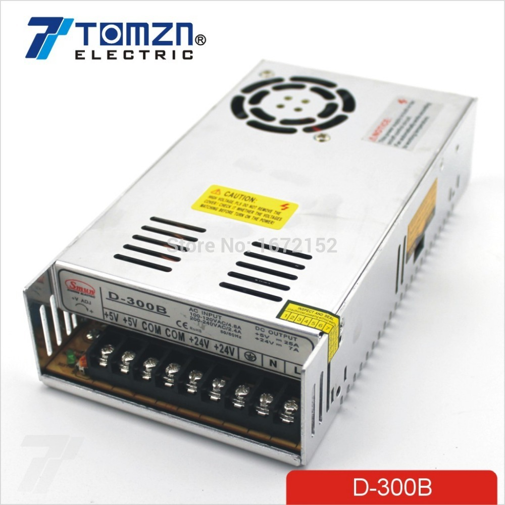 цена на 300W B Dual output 5V 24V Switching power supply AC to DC 25A DC 7A