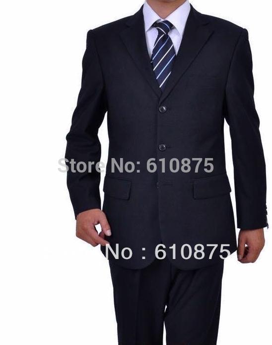 Men Plus Size Spring Solid Suit Blazer Male Autumn Oversized Black Suits Men Winter Blue Single-breasted Suits Top+pants