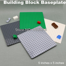 many color 5x5 inch small blocks baseplate 16 16 dot 12x12cm building bricks base plate DIY