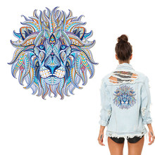 Iron-on Transfer Clothes Patches Cool 3D Lion King Stickers for Tops T-shirt Household DIY Decoration Appliqued for Tote Curtain(China)