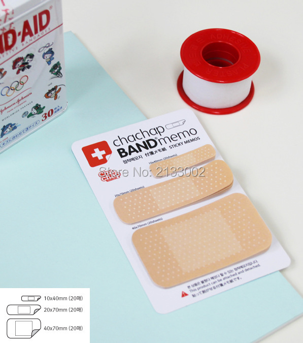 Cute Band Aid Memo Pad Post it stickers Sticky Notes Paper Notepad Kawaii Office Stationery