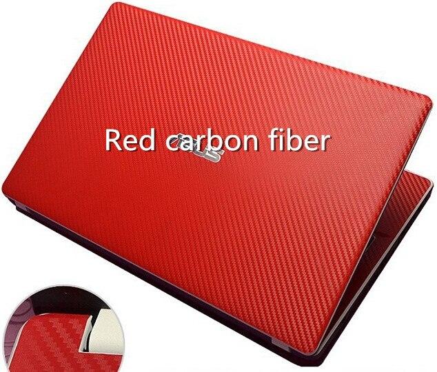 Специальные кожаные виниловые наклейки из углеродного волокна для ASUS G53 G53SW G53SX 15,6 дюйма - Цвет: Red Carbon fiber