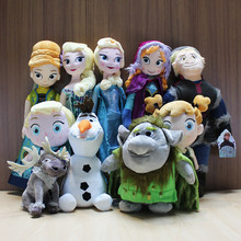 Hot Olaf Plush Toys Princess Olaf Sven Favor Elsa Anna Kristoff Trolls Favor Brinquedo Stuffed Dolls Free Shipping