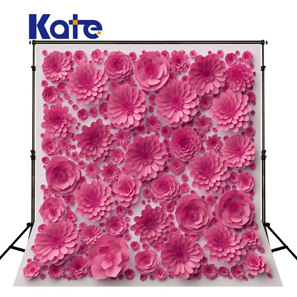 KATE saint valentin toile de fond photographie fond rose 3d fleur fond papier fleur mariage fond pour Studio Photo