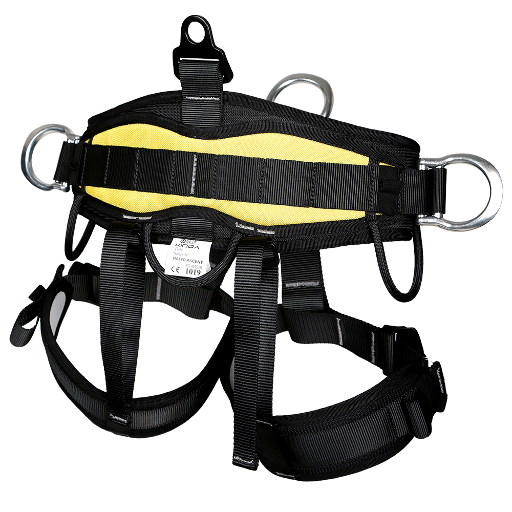 New Heavy Duty Rock Climbing  Rappelling Harness Seat Safety Sitting Bust Belt for Outdoor Camping Hiking Travel Kits Accessory 25kn professional carabiner d shape safety master lock outdoor rock climbing buckle equipment