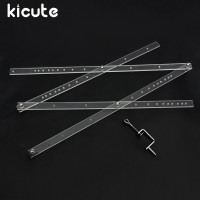 Kicute Excellent 50cm Scale Folding Ruler Artist Pantograph Copy Rluers Draw Enlarger Reducer Tool For Office