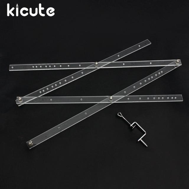 Kicute ممتاز 50 سنتيمتر مقياس للطي حاكم الفنان بانتوغراف نسخة Rluers رسم المكبر المخفض أداة ل مكتب اللوازم المدرسية