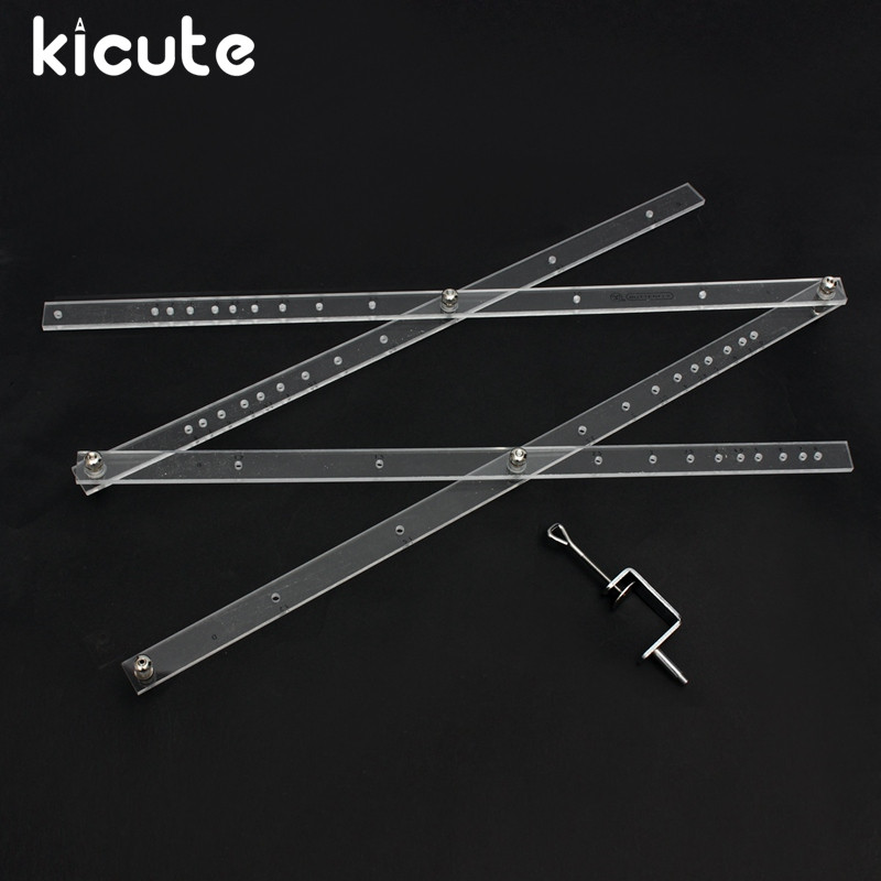 Kicute Excellent 50cm Scale Folding Ruler Artist Pantograph Copy Rluers Draw Enlarger Reducer Tool for Office School Supplies