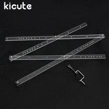 Kicute Regla plegable a escala de 50cm, herramienta reductora para la Oficina y la escuela