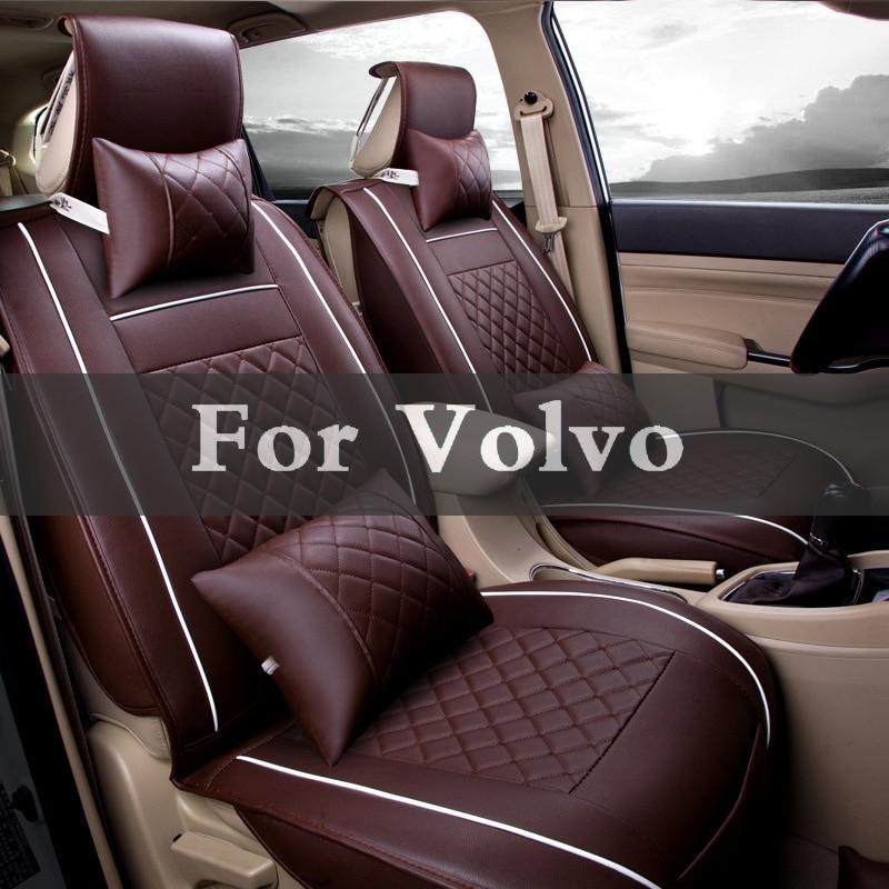 Car Leather Four Seasons Universal Auto Seat Cover Case Stickers For Volvo C30 C70 S40 S60 S80 V40 V50 V60 V70 Xc60 Xc70 Xc90 цены