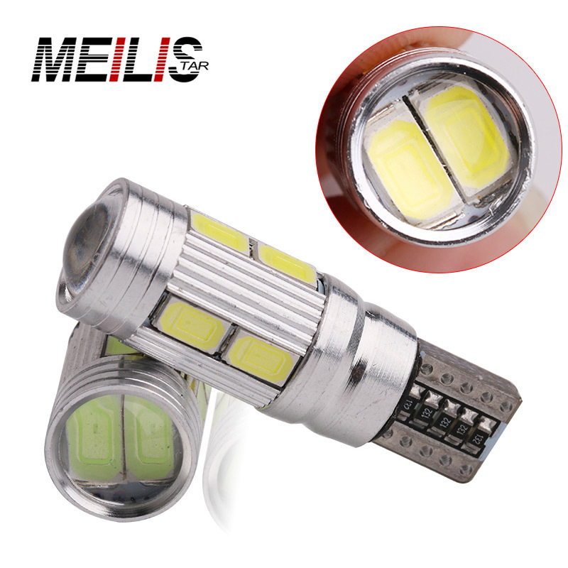 1PCS Car Styling Car Auto LED T10 194 W5W Canbus 10 SMD 5630 LED Light Bulb No Error LED Light Parking T10 LED Car Side Light car led 1pcs t10 194 w5w dc 12v canbus 6smd 5050 silicone shell led lights bulb no error led parking fog light auto car styling