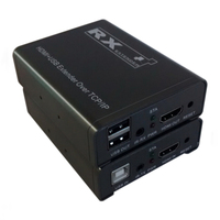 120M KVM HDMI Extender TCP/IP Network KVM Extender 1080P High Quality USB HDMI IR KVM Extender by CAT5e/6