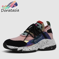 eecdbc0dc DORATASIA 2019 New INS Hot Summer Genuine Leather Suede Sneakers Girl  Horsehair Decoration Casual Shoes For