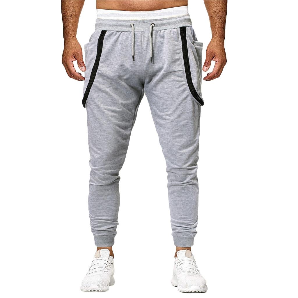 2019 Hosen Für Männer Mode Hosen Casual Hosen Patchwork Lose Jogginghose Kordelzug Hose #38 Buy One Give One