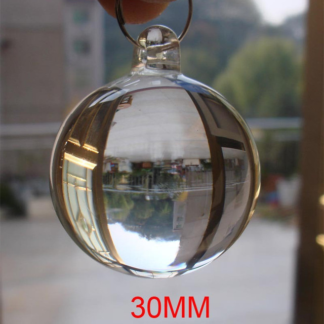 Free 10pcs Lot 30mm Transpa Color Crystal Smooth Hanging Ball