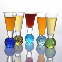 1PC Beautiful Ball Wine Glass Mermaid Tail Cocktail Beer Whisky Coffee Cup Glassware Bar Tools JS 1116