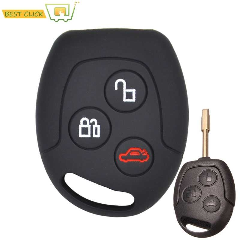 Silicone Key Case Cover For Ford Focus KA Galaxy Mondeo Transit Connect Cougar Puma Fushion Keyless Fob Shell