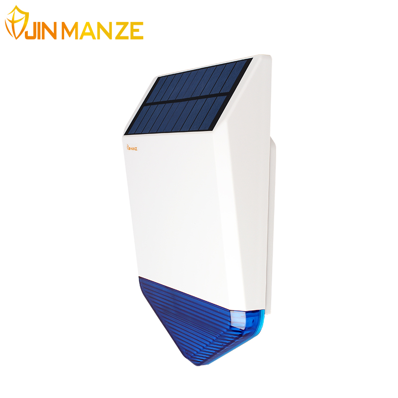 Outdoor 433mhz  Wireless Siren for Home Security GSM Alarm System Audible and Visual Alarm Solar Light acousto-optic alarm Siren high quality solar spot alarm system kit 433mhz wireless outdoor siren with bright flash to make powerful warning