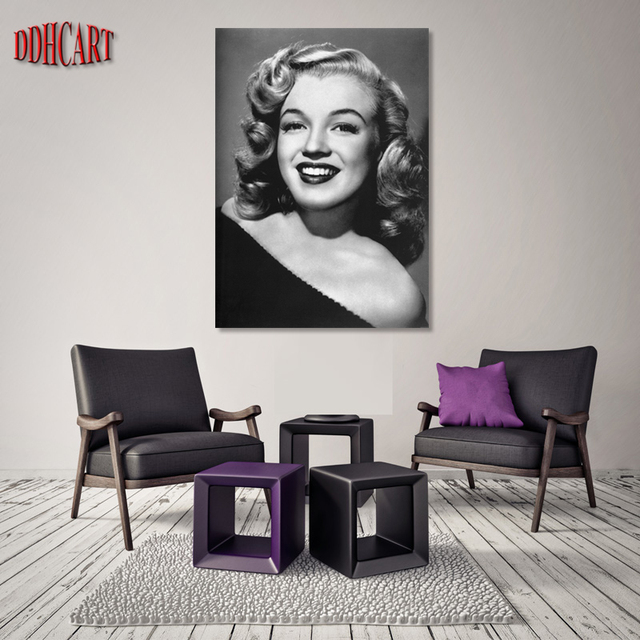 1 Piece Modern Wall Painting Marilyn Monroe Home Decoration Art Picture  Paint On Canvas