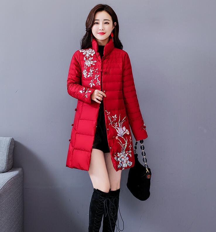 Vent rose Beige Veste D'hiver Nouvelle Vêtements Petit Red Coton Lâche black red Cape Léger Rembourré Ethnique qBT4wt