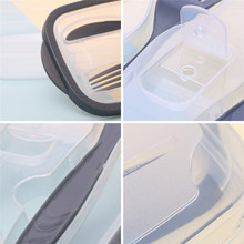 Plastic Bento Box Meal Storage  Lunch Box 2 Compartment