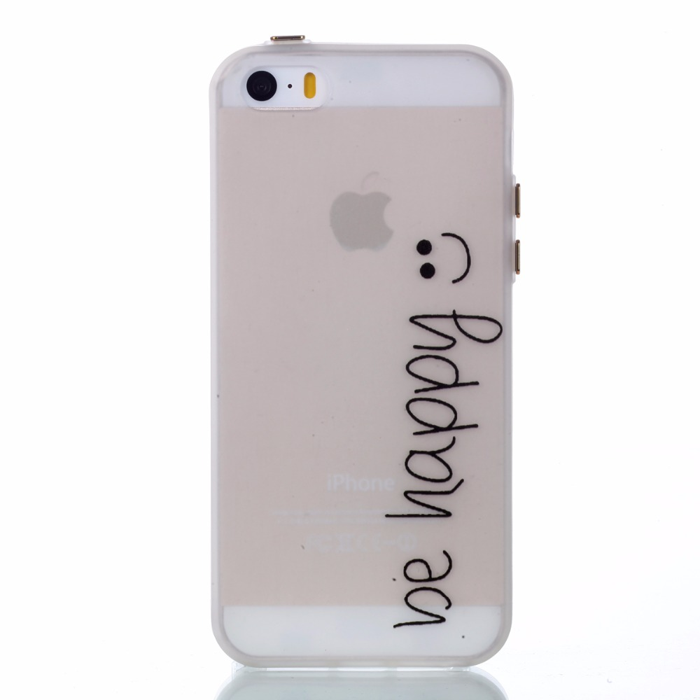 Rubber Coque For <font><b>iPhone</b></font> 5 Simple style <font><b>Case</b></font> Silicone Thin Slim Soft TPU Luminous <font><b>Phone</b></font> <font><b>Case</b></font> For <font><b>iPhone</b></font> <font><b>5S</b></font> 4 inch Cover <font><b>silikon</b></font>