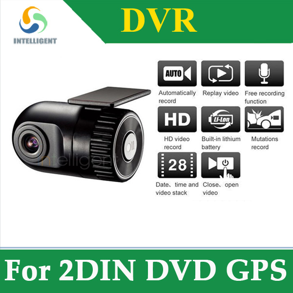 1280*720P HD DVR Car Camera 12V Car recorder with 140 high definition wide-angle lens G-sensor night vision connect to 2 din dvd